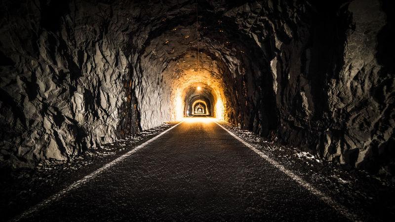 The tunnel of Gasadalur (Fær Øer islands) Adventure Black Faroe Faroe Islands Faroeislands Färöer Fær Øer Gasadalur Illuminated Lights Night Road Tunnel Tunnel View Wanderlust