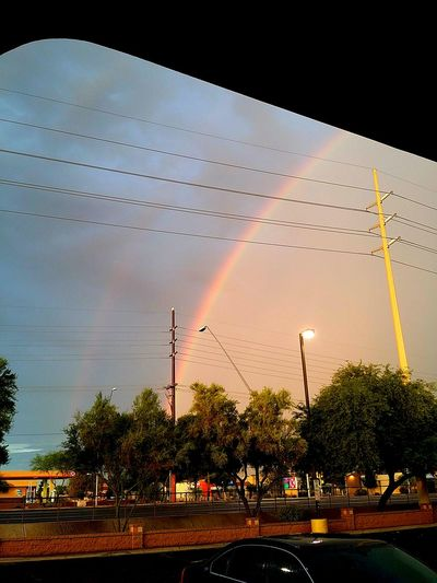 That double rainbow coming from that tucosn arizona lyfe Doublerainbow