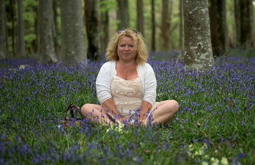 Live For The Story Flower Mature Adult Nature One Person Purple Only Women One Mature Woman Only Adult Mature Women Smiling One Woman Only Happiness Beauty Women Adults Only Beauty In Nature People Outdoors Summer Portrait Blue Eyes Bluebells In The Woods Bluebells, Spring, Springtim Bluebell Woods