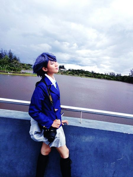 Side View Vertical Standing One Person One Woman Only Person Only Women Cloud - Sky Sport Outdoors Day People Tree Adult Musical Instrument Sky Cosplaygirl Nono Sarawakians Sibu Captured By Vivo Sibutown Permai Lake Side