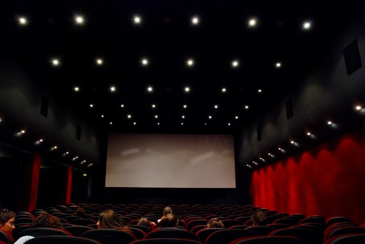 Cinema Arts Culture And Entertainment Cinema Cinema In Your Life Cinema Theater Dark Illuminated Lifestyles Light Lighting Equipment Paris, France  Seats