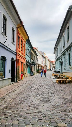 Bielsko-Biała Colors Poland Poland Is Beautiful Architecture Building Exterior Built Structure City Cloud - Sky Day Downtown District Full Length Little Vienna Men One Person Outdoors People Real People Sky The Way Forward Walking Walking Around The City