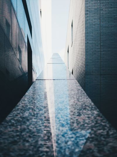 EyeEm Selects Architecture Built Structure Building Exterior No People Building Day Wall - Building Feature Direction The Way Forward Outdoors Diminishing Perspective Sunlight City Wall Pattern Narrow 17.62°