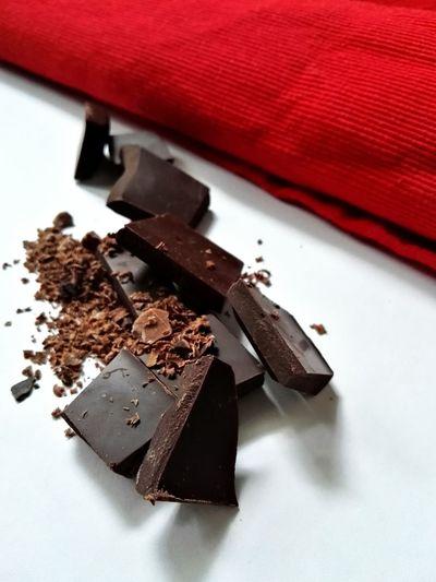 Chocolate Food And Drink Indoors  High Angle View Food Close-up Chocolate Chocolate Time Chocolat Dark Chocolate Sweet Chocolate Healthy Choice EyeEmNewHere