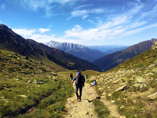 Italian Alps Nature Top Of The World 3630 Meters High Grandpa Shiny Day Mountains Bluesky Landscape