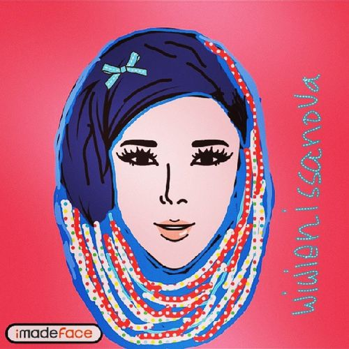 Hehehe finally I can make it... my first Imadeface Imadefacewithhijab Imadefacehijab Alfanova wnehijab wne1109