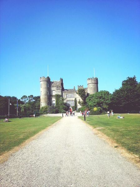 Castle Taking Photos Malahide  Blue Sky
