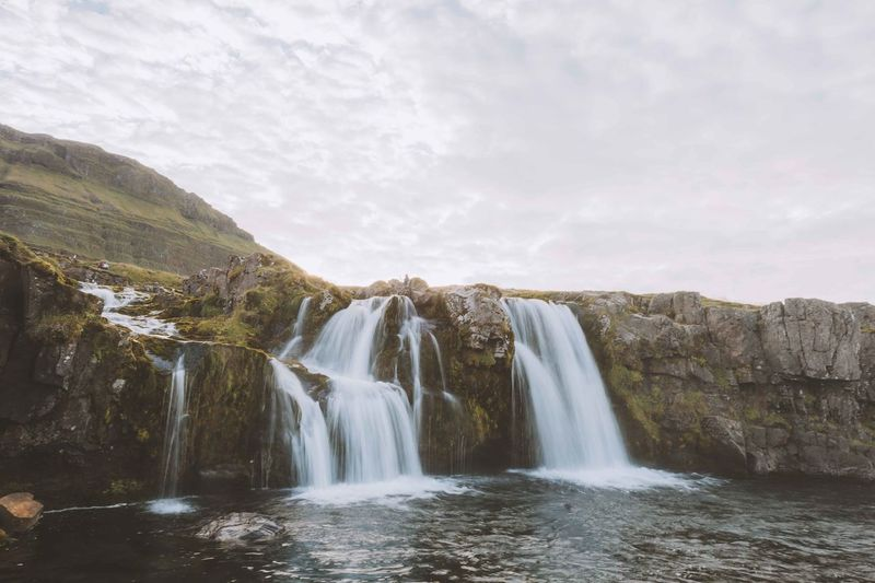 Beauty In Nature Day Iceland Idyllic Landscape Long Exposure Mountain Nature No People Outdoors Reservoir Scenics Travel Destinations Trip Vacation Water Waterfall