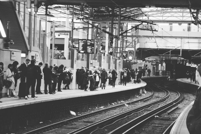last train home Large Group Of People Train Station Train Platform Black And White Railway Station EyeEm Gallery Eyeem Market EyeEm Team Popular EyeEmBestPics Trending Photos Welcome To Black Let's Go. Together. Mobility In Mega Cities