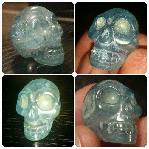 Brand new crystal skull thanks to my awesome mum! Crystalskull AquaAuraQuartz Quartz Crystalporn crystallife skull