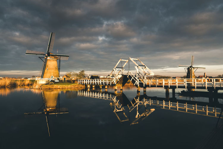 Morning Glory Morning Light Morning Sky Netherlands Windmill Windmills Architecture Built Structure Cloud - Sky Holland Nature No People Outdoors Reflection Sky Water Waterfront Wind Power