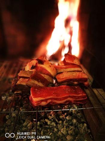 Asado Argentino Asadofamiliar Asador Flame Heat - Temperature Food And Drink Burning No People Indoors  Food