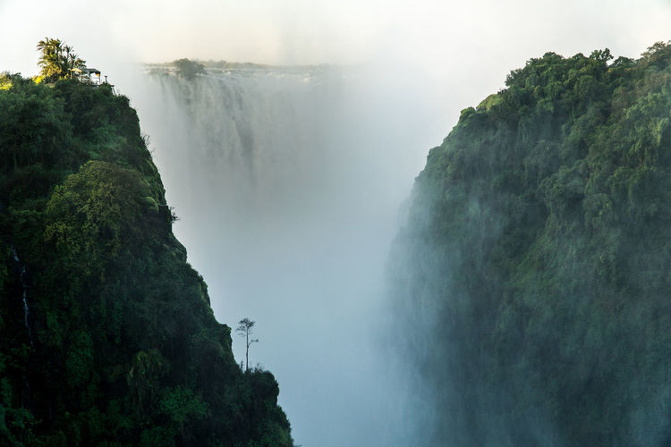 Scenic view of victoria falls in mountains
