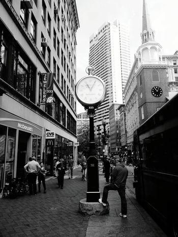Giantpocketwatch Oldclock Boston Downtown