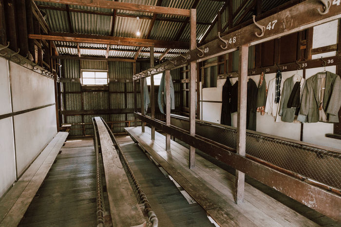 Australia Bendigo Gold Mine Architecture Built Structure Clothes Day Gold Colored Hanging Indoors  No People Old Old Buildings Shades Of Winter Business Stories An Eye For Travel