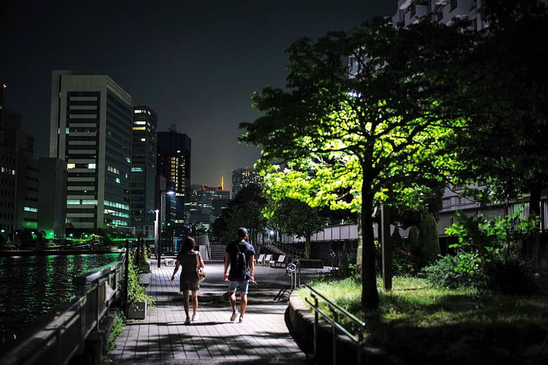 Waterfront night. Silent City. City Night Silent Night Riverside Two People Waterfront Silence Tokyo Tower Tokyo,Japan Tokyo Tree Architecture Building Exterior Plant City Built Structure Night Nature Building Growth Illuminated Sky Park The Way Forward City Life