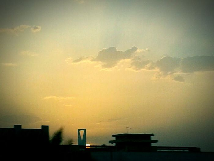 Hangingoutwithfamily Kingdomtower Settingsun Ontheroadclick <3 Sunraysthruclouds Landscapes With WhiteWall