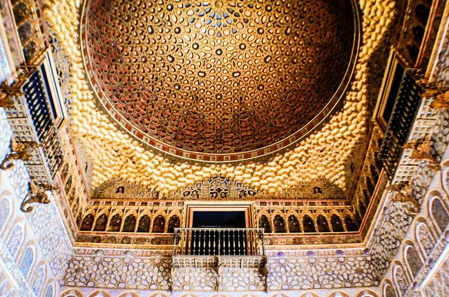 Architecture Pattern Built Structure Indoors  No People Seville Seville,spain Travel Destinations Day Miles Away Realesalcazares Reales Alcazares De Sevilla Sevilla Cúpula Arabic Style Arabesque Muslim Architecture Travel