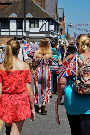 Windsor Berkshire Royal Wedding Group Of People Building Exterior Real People Architecture Built Structure Women Day Celebration Crowd Street Outdoors Clothing Large Group Of People Lifestyles Event Leisure Activity City