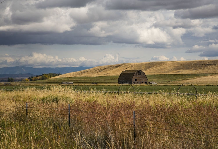 Old Barn in the Country #Cloudscapes #Montana #autumn #barn #fieldsofgold #old Barn #rural EyeEmNewHere