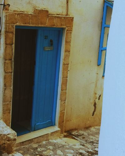 Building Exterior Architecture Built Structure Day Blue ArtWork Inspirations Kef Old Town Tunisianyouth Vscocam Morning Medina Street Tunisia Photography