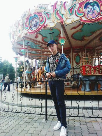 City Full Length One Person Amusement Park Walking Day Arts Culture And Entertainment Casual Clothing Outdoors Standing Adult Only Men People One Man Only Adults Only Men Lifestyles Real People Carousel First Eyeem Photo