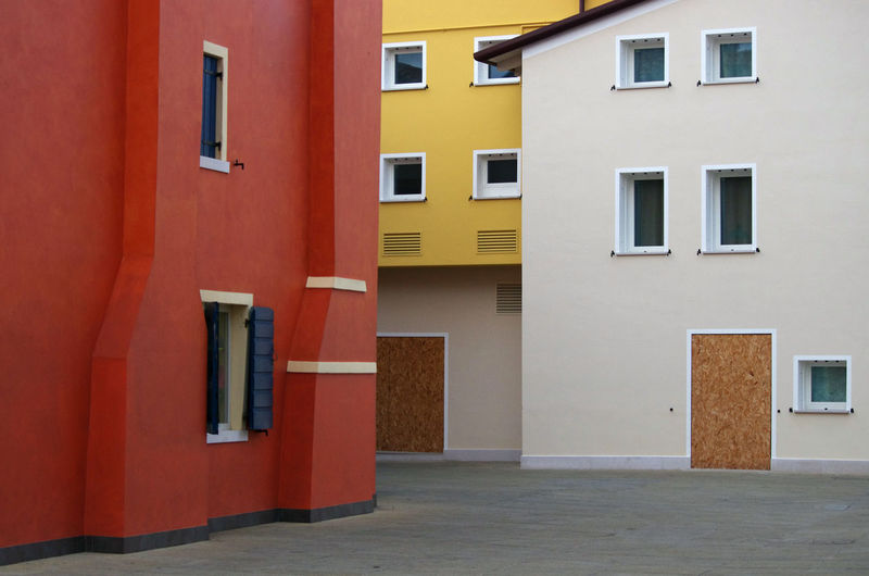 Fantastic Caorle..... Colors EyeEmNewHere Houses Red Architectural Feature Architecture Day Door Tipica White Window Yellow