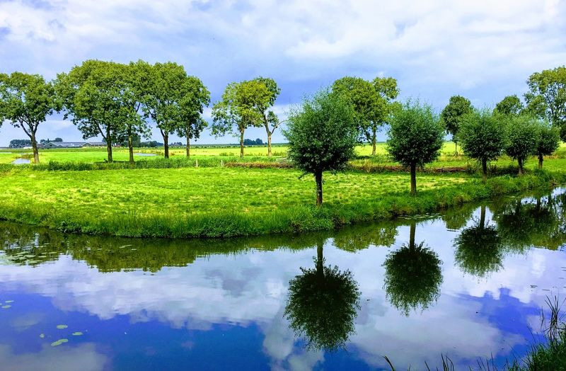Sky Water Reflection Green Color Beauty In Nature Scenics - Nature