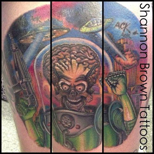 Tattoo New Tattoo Mars Attacks Tattoos By Shannon Brown
