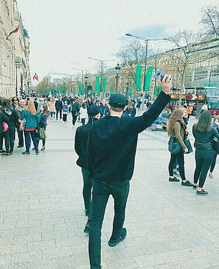 P C Y EXO Parkchanyeol Derpking Real__pcy Crowd Men Fun Sky