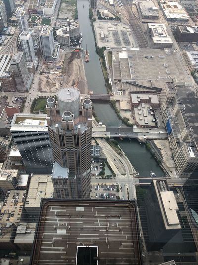 Chicago from above Building Exterior Architecture Built Structure City High Angle View Building No People Cityscape Aerial View City Life Day Tall - High