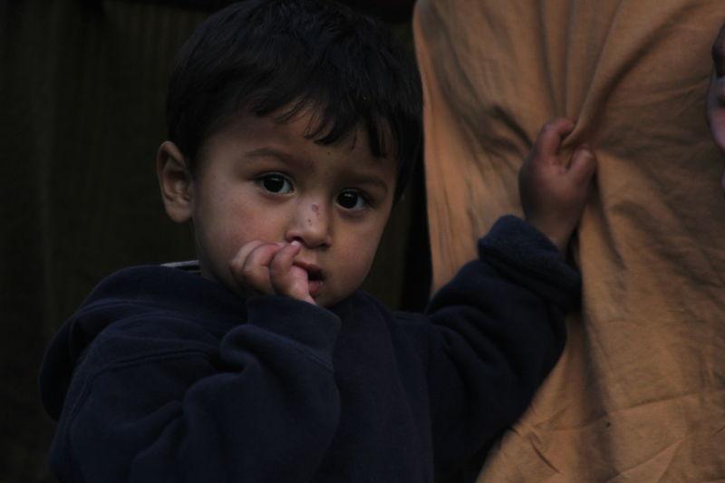 Boy Grab His Father's Shirt Looking Into Camera Astore Rama Ruhani Love Peace✌ Camping🎈👻