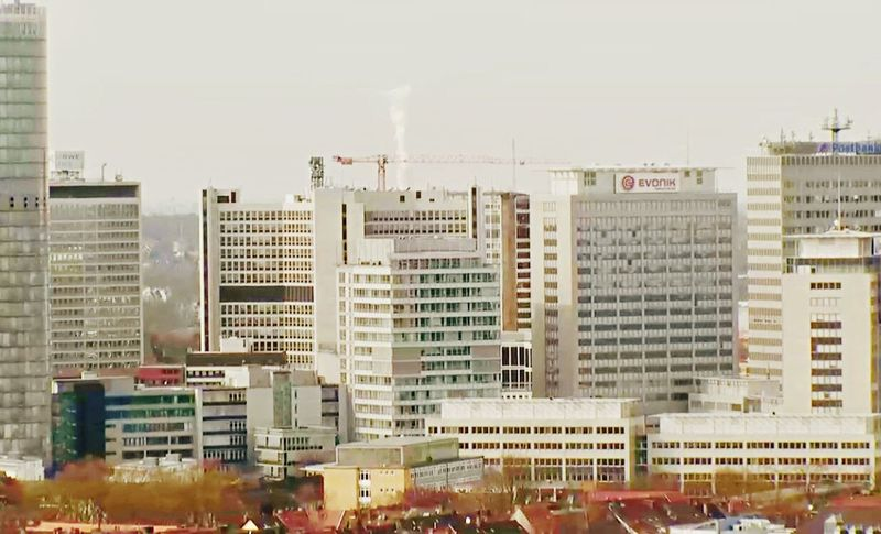 Evonik City Outdoors Building Exterior Cityscape Architecture RWE Power Skyline Cityscape No People Architecture