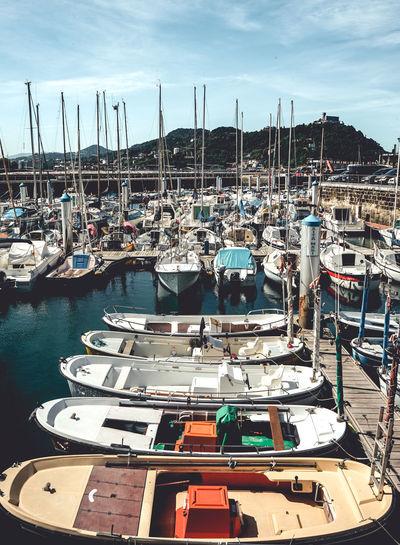 San Sebastian and its color. Donostia / San Sebastián SPAIN San Sebastian Boat Boats Day Donostia Fishing Boat Harbor Nautical Vessel No People Sailboat Spaın Travel Water Wooden Post