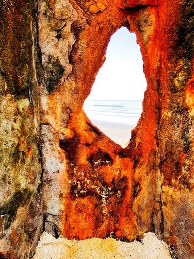 Løkken, Strand Beach Sand Weathered Metal Rusty Abstract Rust Abstract Photography Landscape Outdoors Taking Photos Taking Pictures The Week on EyeEm Timepaint72 Nature Sky Sunset Day Outdoors Beauty In Nature Close-up
