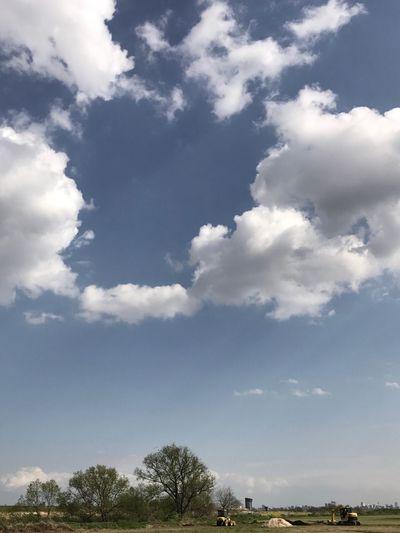 長閑な春の午後。 Afternoon Cloud Spring Sky Scenics Tranquility Tree Springtime No People Backhoe Fields Clouds And Sky Calm Day Japan