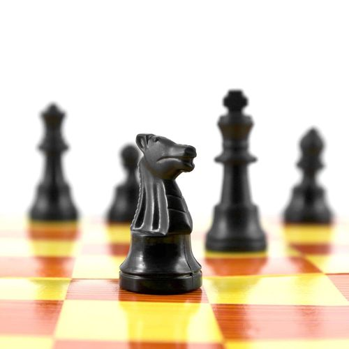 Chess Strategy Chess Piece King - Chess Piece Chess Board Competition Leisure Games Queen - Chess Piece Pawn - Chess Piece Black Color Knight - Chess Piece Checked Pattern Challenge Studio Shot No People White Background Competitive Sport Chess Game Toy Strategy