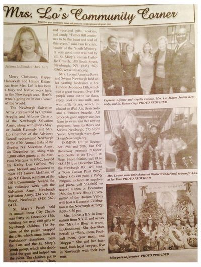 Here is the MrsLo Community Column , in English and Spanish, in the Hudson Valley press Newspaper ! ??? Newburgh Tadaa Community