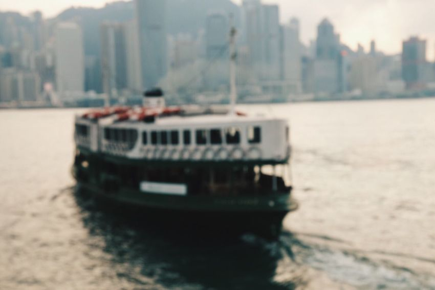 Yeah, it's out of focused, but I love this picture Victoria Harbour Hong Kong Ferry No People Outdoors Transportation Building Exterior Close-up Architecture Day Nature Sky City Cityscape Nautical Vessel