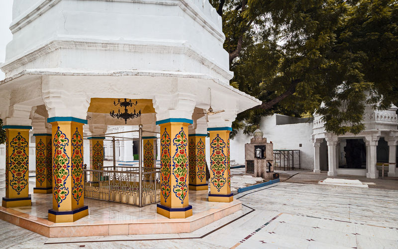 Panoramic view of temple and buildings in city