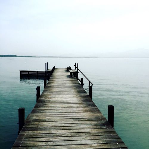 Peace And Quiet Relaxing Lake Water Landing Stage Bavaria Germany