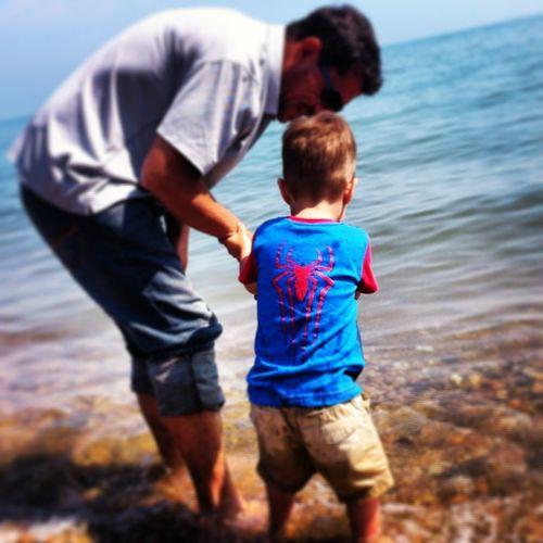 Summertime Spiderman Family Time Grandad & Grandson