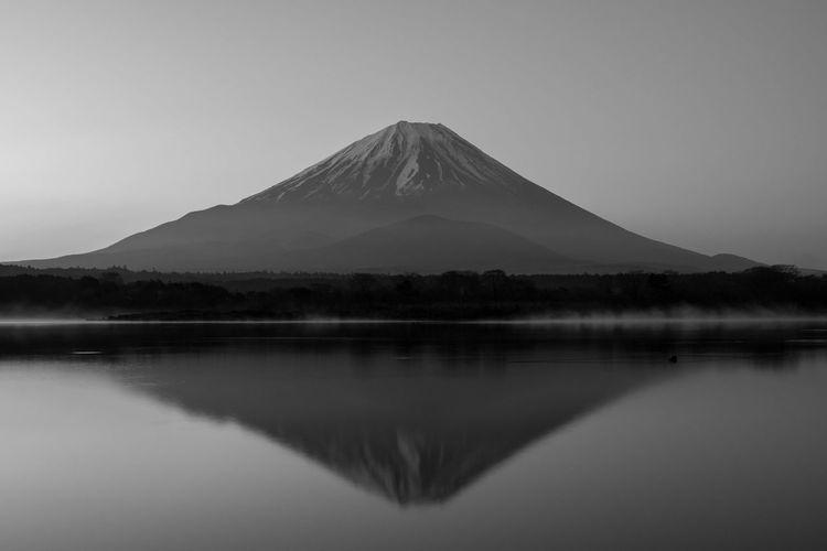 Mt fuji reflecting in lake kawaguchi