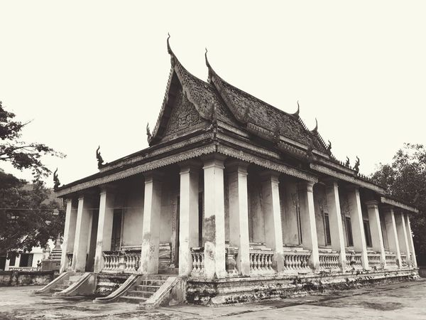 Vishnu ASIA Art Culture Architecture Built Structure Religion Building Exterior Spirituality Architectural Column History Place Of Worship Clear Sky Outdoors Day No People Sky Pediment Cambodia Phnom Penh Khmer Art And Craft Creativity Temple Pagoda