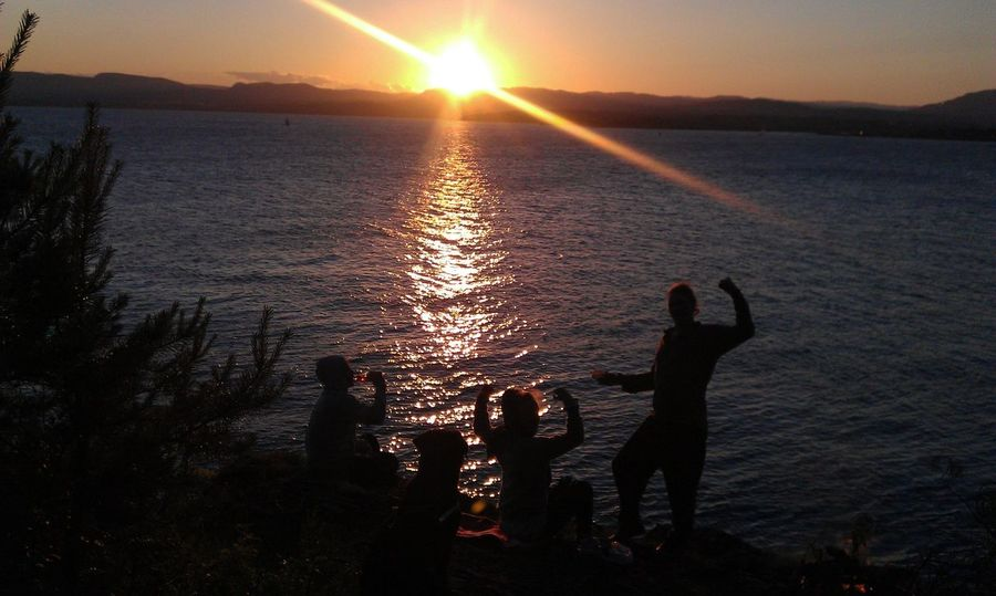 NofilternoeditCheck This Out Oslo Norway ✌ From My Neighborhood. Light And Shadow Sunset Silhouettes People Of EyeEm From My Point Of View Eyem Market People Together Happy People Enjoying Nature Camping