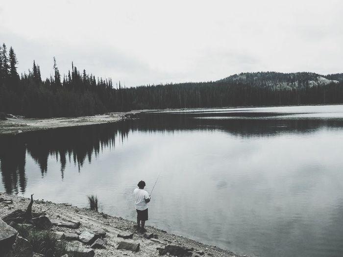 Fisherman My Brother ❤ Camping Trip! Beaufiful Mountains Reflection Beautiful Idaho