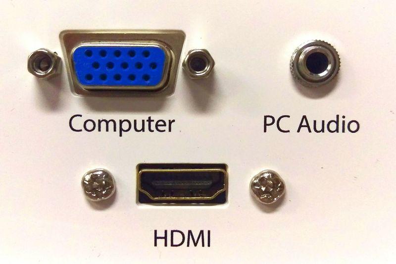 Close-up Technology Av Audio Visual Vga HDMI Audio Wall Plates