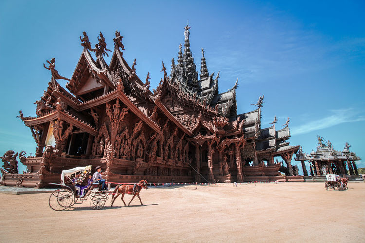 The sanctuary of truth, pattaya is the most perfect travel destination for poster photography