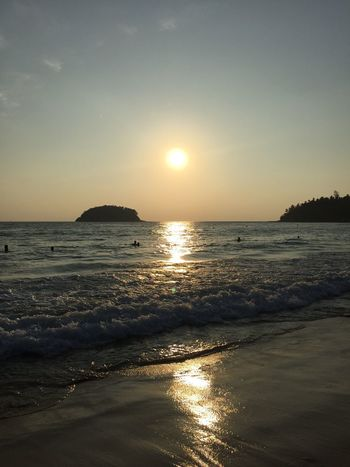 Sunset doesn't need filters Thailandtravel Beach Sunset Traveling The World
