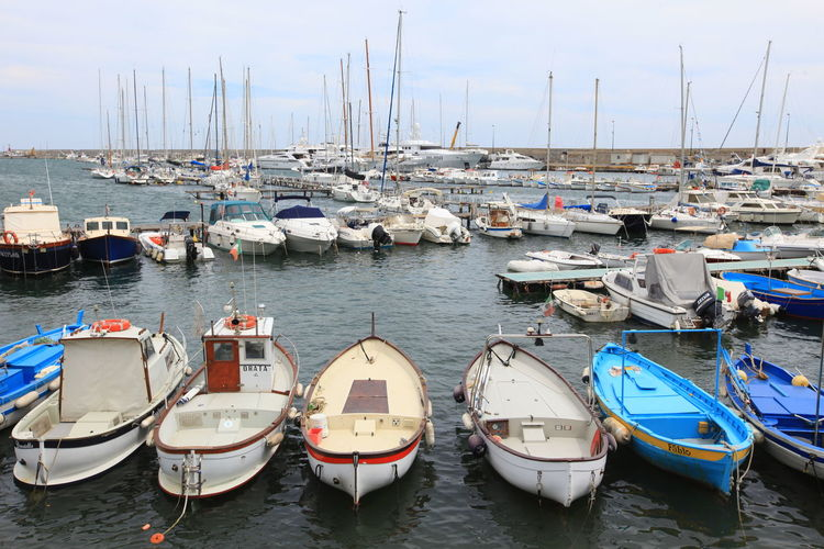 San Remo, Italy San Remo Boat Day Harbor Italy Lake Mast Mode Of Transport Moored Nature Nautical Vessel No People Outdoors Sky Tranquility Transportation Water